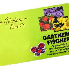 Kundenkarte Gärtnerei Fischer Burglengenfeld